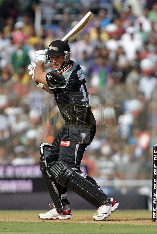 Pune Warriors player Graeme Smith bats during  match 16 of the Indian Premier League ( IPL ) Season 4 between the Pune Warriors and the Delhi Daredevils held at the Dr DY Patil Sports Academy, Mumbai India on the 17th April 2011..Photo by BCCI/SPORTZPICS