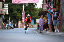 Sofie de Vuyst (Lotto Soudal) at Giro Rosa 2016 - Prologue. A 2 km individual time trial in Gaiarine, Italy on July 1st 2016.