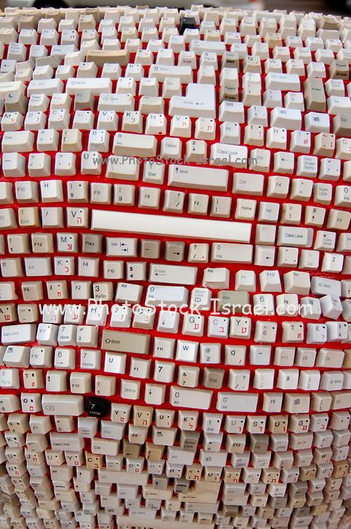 randomly assembled Keyboard keys