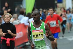 Dominic Kemboi v cilju na 13. Ljubljanskem maratonu po ulicah Ljubljane, 26. oktobra 2008, Ljubljana, Slovenija. (Photo by Vid Ponikvar / Sportal Images)./ Sportida)