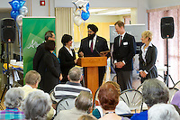 February 24, 2012 - Calgary, Alberta, Canada - Funding Announcement for the upgrade project at Gilchrist Manor, a seniors residence property managed by Silvera for Seniors (formerly MCF Housing for Seniors). The event was attended by employees and residents of Gilchrist Manor, Senior management and members of the Board of Directors of Silvera for seniors, and local and provincial politicians. The event was also a celebration of the 50th anniversary of Silvera for Seniors...©2012, Sean Phillips.http://www.RiverwoodPhotography.com