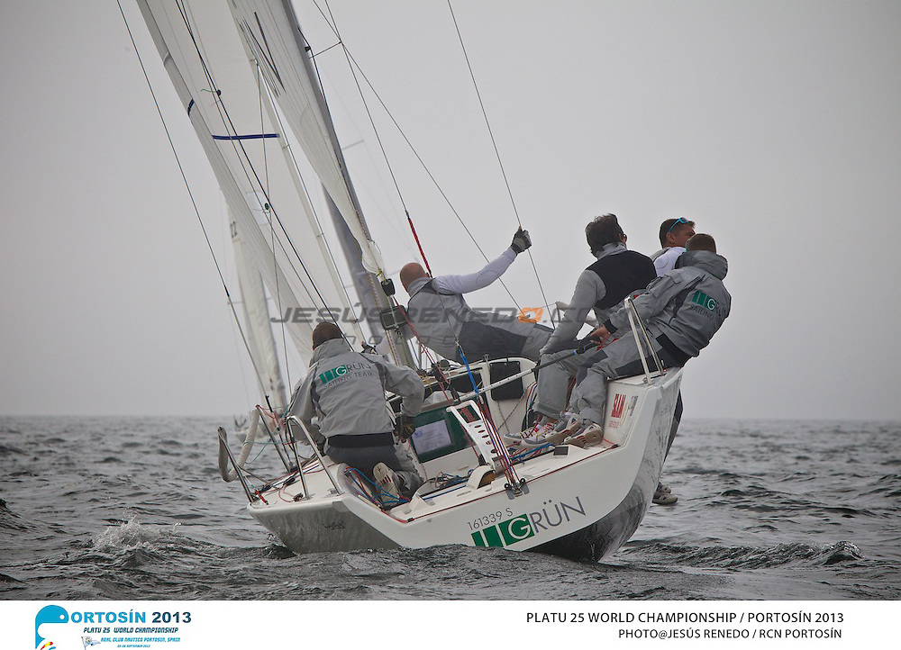 Platu 25 World Championships, Portosín , Galicia, Spain. 24-29 September 2013 . Day 1©