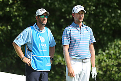 September 2, 2018 - Norton, Massachusetts, United States - Webb Simpson (R) and his caddie Paul Tesori wait on the 4th hole during the third round of the Dell Technologies Championship. (Credit Image: © Debby Wong/ZUMA Wire)