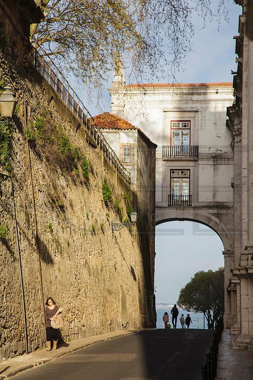 Arco Grande de Cima near tipical Alfama distric in Lisbon and Ladra second-hand market.