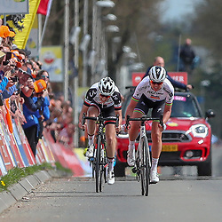 15-04-2018: Wielrennen: Amstel Gold race women: Valkenburg<br /> De Amstel Gold Race voor vrouwen is gewonnen door Chantal Blaak. De wereldkampioene - vorige week nog succesvol met dagwinst in de Healthy Ageing Tour - versloeg Lucinda Brand (tweede) en Amanda Spratt (derde).
