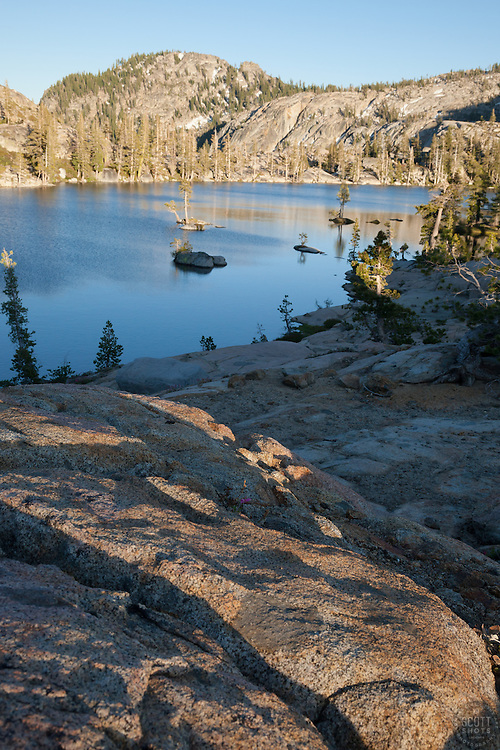 """Paradise Lake 1"" - Photograph taken in the late afternoon at Paradise Lake in the Tahoe National Forest, near the Pacific Crest Trail."