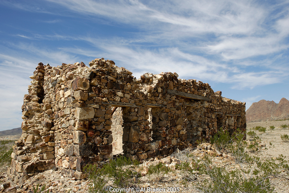 Ranch ruins at Study Butte, Texas near Big Bend and Terlingua
