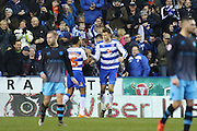 Reading defender Jake Cooper (35) celebrates his equaliser 1-1 during the Sky Bet Championship match between Reading and Sheffield Wednesday at the Madejski Stadium, Reading, England on 23 January 2016. Photo by Phil Duncan.
