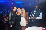 ADAM STANHOPE; VANESSA FELTZ; SASKIA FELTZ; BEN OFOEDU, Proud Cabaret launch. Mark Lane. London. EC3. 3 November 2009