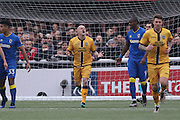 Sutton United Nicky Bailey (16) shows his frustration as he sees his header go over during prior The FA Cup match between Sutton United and AFC Wimbledon at Gander Green Lane, Sutton, United Kingdom on 7 January 2017. Photo by Stuart Butcher.