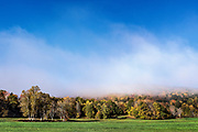 New England autumn landscape, Hartford, Vermont, USA