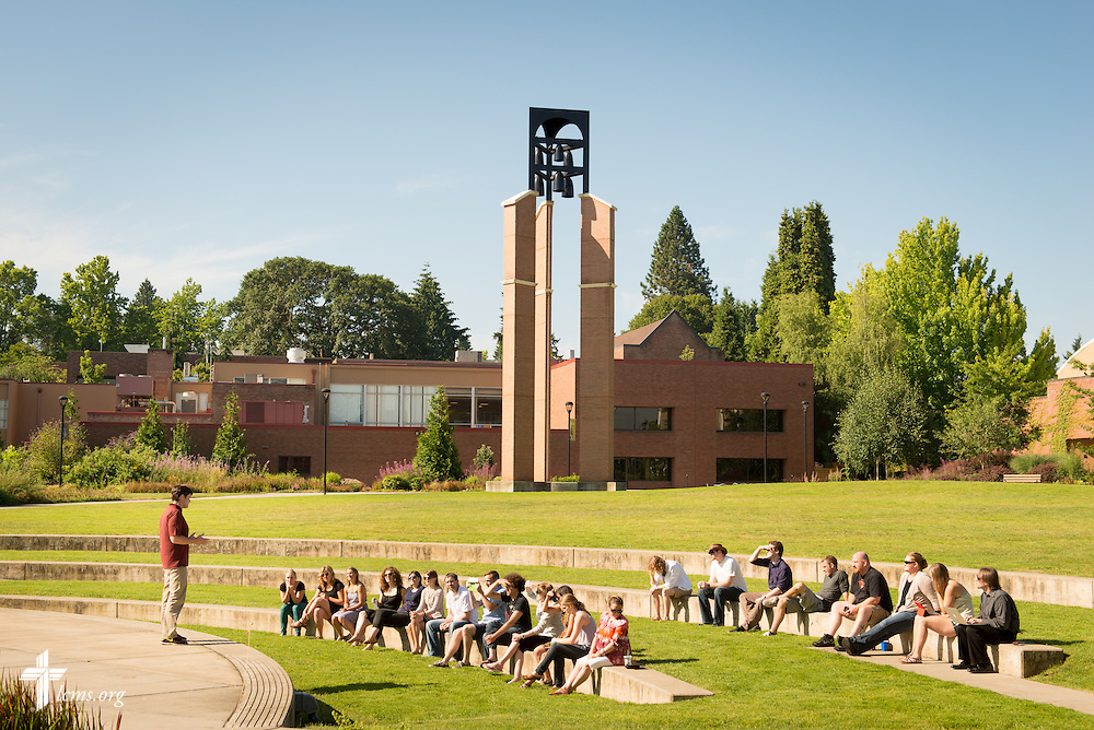 A speaker addresses a class on the campus of Concordia University on Friday, July 11, 2014, in Portland, Ore. LCMS Communications/Erik M. Lunsford