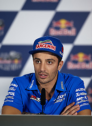 May 3, 2018 - Jerez De La Frontera, Cadiz, Spain - 29 Andrea Iannone (Italian) Team Suzuki Ecstar in the press conference before of the Gran Premio Red Bull of Spain, Circuit of Jerez - Angel Nieto, Jerez de la Frontera, Spain. Thursday, 03rd May, 2018. (Credit Image: © Jose Breton/NurPhoto via ZUMA Press)