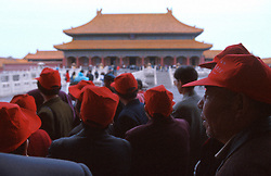 CHINA BEIJING APR99 - A group of elderly Chinese tourists visit the Imperial Palace compound. jre/Photo by Jiri Rezac