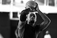 BEAVERTON, OR - NOVEMBER 20:  LeBron James works out during a Nike NBA SPARQ training event in Beaverton, Oregon on November 20, 2011.  (Photo by Jed Jacobsohn)