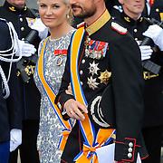 NLD/Amsterdam/20130430 - Inhuldiging Koning Willem - Alexander, princess Mette-Marit en partner prince Haakon