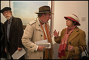 JOHN HURT; JOHNNY GILBERT;  JASMINE WANSTALL, Mim Scala, In Motion, private view. Eleven. Eccleston st. London. 9 October 2014.