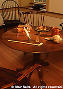 Period Table and Decor, Pottsgrove Manor, Pottstown, Montgomery Co., SE PA