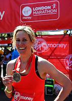 Sophie Raworth<br /> The Virgin Money London Marathon 2014<br /> 13 April 2014<br /> Photo: Javier Garcia/Virgin Money London Marathon<br /> media@london-marathon.co.uk