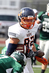 28 September 2013:  Jake Helm during an NCAA division 3 football game between the Hope College Flying Dutchmen and the Illinois Wesleyan Titans in Tucci Stadium on Wilder Field, Bloomington IL