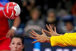 05-12-2019 JAP: Cuba - Slovenia, Kumamoto<br /> Fourth match groep A at 24th IHF Womenís Handball World Championship. Slovenia win 39 - 26 of Cuba / Bal and hands