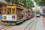 San Francisco Cable Cars at Powell and Market Terminus