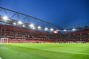 General View of the Emirates Stadium ahead of the Europa League round of 16, leg 2 of 2 match between Arsenal and Rennes at the Emirates Stadium, London, England on 14 March 2019.