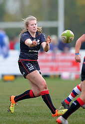 Zoe Harrison of Saracens Women - Mandatory by-line: Paul Knight/JMP - 30/10/2016 - RUGBY - Cleve RFC - Bristol, England - Bristol Ladies v Saracens Women - RFU Women's Premiership