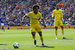 May 12, 2019 - Leicester, England, United Kingdom - Willian of Chelsea on the ball during the Premier League match between Leicester City and Chelsea at the King Power Stadium, Leicester on Sunday 12th May 2019. (Credit Image: © Mi News/NurPhoto via ZUMA Press)