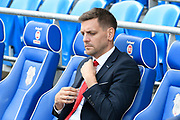 Middlesbrough manager Jonathan Woodgate ahead of the EFL Sky Bet Championship match between Cardiff City and Middlesbrough at the Cardiff City Stadium, Cardiff, Wales on 21 September 2019.