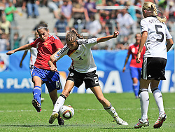 20.07.2010, , Augsburg, GER, FIFA U-20 Frauen Worldcup, Frankreich vs Deutschland, im Bild vl. Solene BARBANCE (Toulouse FRA #10), Stefanie MIRLACH (Bayern Munich #2), Kristina GESSAT (FSV Guetersloh 2009 #5),  EXPA Pictures © 2010, PhotoCredit: EXPA/ nph/  Roth+++++ ATTENTION - OUT OF GER +++++ / SPORTIDA PHOTO AGENCY