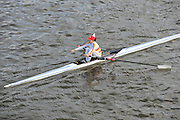 London, Great Britain, Elaine JOHNSTON, Tideway Scullers School,  passes under Chiswick Bridge at the start of the 2009 Scullers Head of the River Race, raced over the Championship Course, Mortlake to Putney, on the River Thames. 12:52:31  Saturday  28/11/2009,  [Mandatory Credit: © Peter Spurrier/Intersport Images]