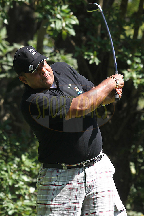 during the Spur Golf Day held at Kloof Country Club in Durban, South Africa on 2 October 2012..Photo by Shaun Roy / Sportzpics