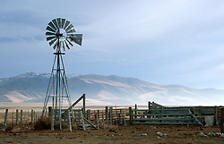 &quot;Windmill near Stillwater, Nevada&quot; - This old Aermotor windmill was photographed along a dirt road north of Stillwater, Nevada. <br />