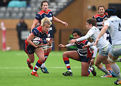 Claire Molloy of Bristol Ladies in action against Saracens Women - Mandatory by-line: Paul Knight/JMP - 30/03/2018 - RUGBY - Shaftsbury Park - Bristol, England - Bristol Ladies v Saracens Women - Tyrrells Premier 15s