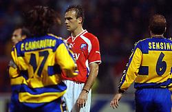 18-10-2001 VOETBAL: UEFA CUP FC UTRECHT - PARMA: UTRECHT<br /> Utrecht verliest met 3-1 van Parma / Igor Glusevic<br /> ©2001-WWW.FOTOHOOGENDOORN.NL
