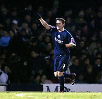 Photo: Chris Ratcliffe.<br /> Southend United v Swindon Town. Coca Cola League 1. 27/01/2006.<br /> Mark Gower of Southend celebrates scoring