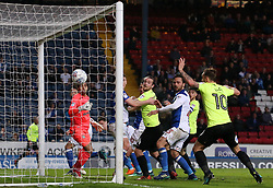Jack Marriott of Peterborough United watches on as Charlie Mulgrew of Blackburn Rovers scores an own goal - Mandatory by-line: Joe Dent/JMP - 19/04/2018 - FOOTBALL - Ewood Park - Blackburn, England - Blackburn Rovers v Peterborough United - Sky Bet League One
