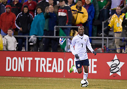 United States midfielder DaMarcus Beasley (7) in action against Mexico.  The United States men's soccer team defeated the Mexican national team 2-0 in CONCACAF final group qualifying for the 2010 World Cup at Columbus Crew Stadium in Columbus, Ohio on February 11, 2009.