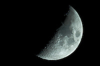 "First Quarter Moon. Image taken with Nikon D3s and Questar 7"" telescope (ISO 200, ~1600 mm, f/16, 1/50 sec)"