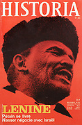 Front cover of issue no. 281 of Historia, a monthly history magazine, published April 1970, featuring an article on Lenin. Historia was created by Jules Tallandier and published 1909-37 and again from 1945. Picture by Manuel Cohen