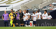 Tottenham players wait to walk out onto the pitch during the Premier League match at the Tottenham Hotspur Stadium, London. Picture date: 23rd June 2020. Picture credit should read: David Klein/Sportimage