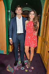 BEATRIZ CALLAGHAN and JOSE MARTINEZ-ARTILES at a party for the UK launch of Mr Boho held at Annabel's, 44 Berkeley Square, London on 19th May 2016.