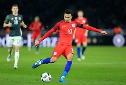 England's Dele Alli fires a shot at goal - Mandatory by-line: Matt McNulty/JMP - 26/03/2016 - FOOTBALL - Olympiastadion - Berlin, Germany - Germany v England - International Friendly