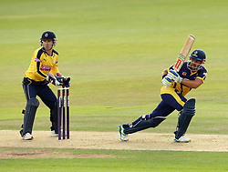 Glamorgan's Jacques Ruldolph bats while Hampshire's Adam Wheater keeps wicket - Photo mandatory by-line: Robbie Stephenson/JMP - Mobile: 07966 386802 - 03/07/2015 - SPORT - Cricket - Southampton - The Ageas Bowl - Hampshire v Glamorgan - Natwest T20 Blast