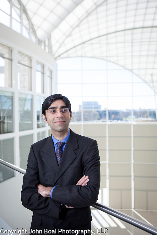 Moeed Yusuf, associate Vice President of Asia center at the United States Institute of Peace, on Monday, November 21, 2016. Photographed for the Pardee School of Global Studies at Boston University.