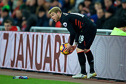 SUNDERLAND, ENGLAND - Monday, January 2, 2017: Liverpool's Alberto Moreno in action against Sunderland during the FA Premier League match at the Stadium of Light. (Pic by David Rawcliffe/Propaganda)