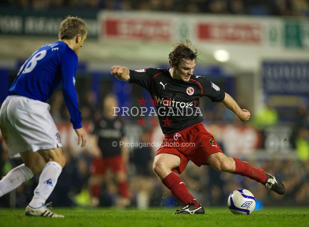 LIVERPOOL, ENGLAND - Tuesday, March 1, 2011: Reading's Jay Tabb in action against Everton during the FA Cup 5th Round match at Goodison Park. (Photo by David Rawcliffe/Propaganda)