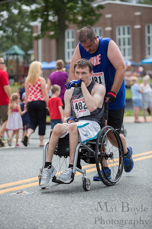 Pitman Freedom 4 Mile Run at Broadway Ave. in Pitman, NJ on Thursday July 4, 2013. (photo / Mat Boyle)