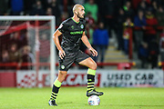 Forest Green Rovers Farrend Rawson(6) on the ball during the EFL Sky Bet League 2 match between Morecambe and Forest Green Rovers at the Globe Arena, Morecambe, England on 22 October 2019.